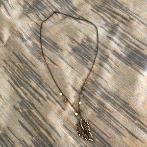 Long leaf necklace 🍂